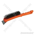 Steel Wire Brush - 5 Row / Scraper