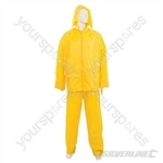 "Rain Suit Yellow 2pce - M 72 - 126cm (28 - 50"")"