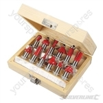 12mm TCT Router Bit Set 12pce - 12mm