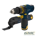 12V Multi-Tool & Combi Hammer Drill Twin Pack - GTPDDOMT12