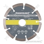 Laser-Welded Concrete & Stone Cutting Diamond Blade - 115 x 22.23mm Segmented Rim