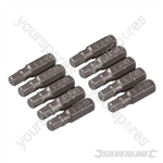 Hex Cr-V Screwdriver Bits 10pk - Hex 5mm