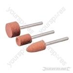 Rotary Tool Grinding Stone Set 3pce - 9, 10 & 15mm Dia