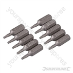 Torx Cr-V Screwdriver Bits 10pk - T8