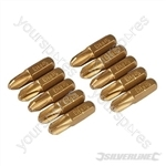 Phillips Gold Screwdriver Bits 10pk - PH3