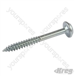 "Zinc Pocket-Hole Screws Washer Head Fine - No.7 x 1-1/2"" 500pk"
