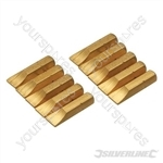 Slotted Gold Screwdriver Bits 10pk - Slotted 7mm
