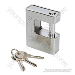 Close Armoured Shutter Lock Padlock - 80mm