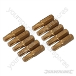 T30 Gold Screwdriver Bits 10pk - T30