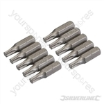 T25 Cr-V Screwdriver Bits 10pk - T25