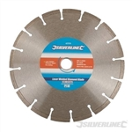 Laser-Welded Concrete & Stone Cutting Diamond Blade - 230 x 22.23mm Segmented Rim