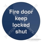 Fire Door Keep Locked Shut Sign - 100 x 100mm Rigid