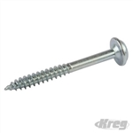 "Zinc Pocket-Hole Screws Washer Head Fine - No.7 x 1-1/4"" 5000pk"