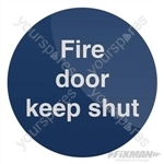 Fire Door Keep Shut Sign - 100 x 100mm Rigid PL