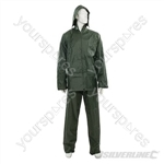 "Rain Suit Green 2pce - XL  76 - 134cm (30 - 53"")"