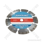 Laser-Welded Turbo Diamond Blade - 115 x 22.23mm Castellated Segmented Rim