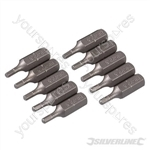 Hex Cr-V Screwdriver Bits 10pk - Hex 2.5mm