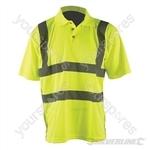 "Hi-Vis Polo Shirt Class 2 - XL 108-116cm (42-46"")"