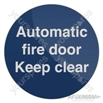 Automatic Fire Door Sign - 100 x 100mm Rigid