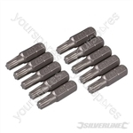 T27 Cr-V Screwdriver Bits 10pk - T27