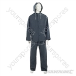 "Rain Suit Blue 2pce - XL  76 - 134cm (30 - 53"")"