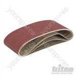 Sanding Belts for Triton Palm Belt Sander 3pk - TCMBS120G Sanding Belts 3pk 120G