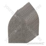 Hook & Loop Mesh Triangle Sheets 175 x 105mm 10pk - 4 x 40G, 4 x 80G, 2 x 120G