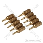 Torx Gold Screwdriver Bits 10pk - T9