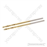 Titanium-Coated HSS Drill Bits 2pk - 1.0mm