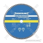 Turbo Wave Diamond Blade - 230 x 22.23mm Castellated Continuous Rim