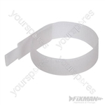 Hook & Loop Cable Ties 10pk - 150mm White