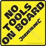 Vehicle Window Stickers - No Tools on Board' 10pk