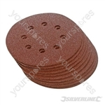 Hook & Loop Discs Punched 125mm 10pk - 60 Grit
