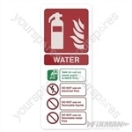 Water EN3 Extinguisher Sign - 202 x 82mm PL