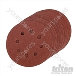 Hook & Loop Sanding Disc 125mm 10pk - 125mm 100 Grit