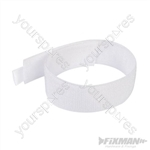 Hook & Loop Cable Ties 10pk - 300mm White
