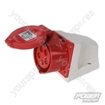 16A Surface-Mountable Socket - 400V 5 Pin