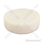 Hook & Loop Foam Polishing Head - 150mm Firm White