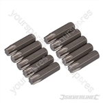 T40 Cr-V Screwdriver Bits 10pk - T40