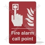 Fire Alarm Call Point Sign - 100 x 150mm Rigid