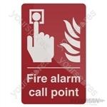 Fire Alarm Call Point Sign - 100 x 150mm Rigid