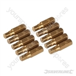 Hex Gold Screwdriver Bits 10pk - Hex 5mm