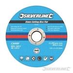 Stone Cutting Discs Flat 10pk - 125 x 3 x 22.23mm