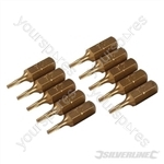 Torx Gold Screwdriver Bits 10pk - T7
