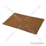PVC Back-Tufted Plain Natural Mat - 450 x 750mm