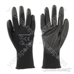 Black Palm Gloves - Large