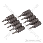 Torx Cr-V Screwdriver Bits 10pk - T7