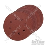 Hook & Loop Sanding Disc 125mm 10pk - 125mm 240 Grit