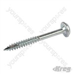 "Zinc Pocket-Hole Screws Washer Head Fine - No.7 x 1-1/5"" 100pk"
