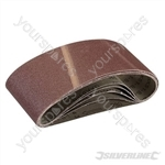 Sanding Belts 75 x 457mm 5pk - 80 Grit